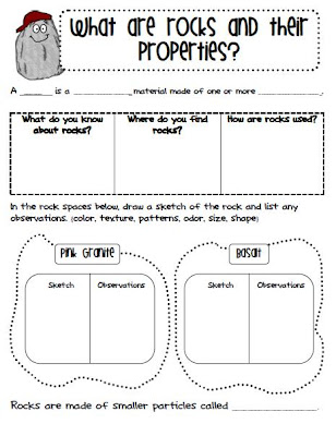 Rocks And Minerals Worksheets 3rd Grade - Synhoff