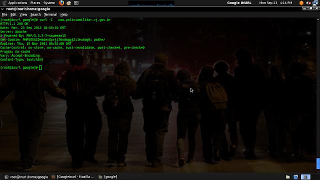 Fingerprint simples via CURL, identificando WEB server.