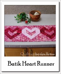 Free Batik Heart Table Runner Tutorial at Freemotion by the River