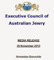 Executive Council of Australian Jewry - Armenian Genocide
