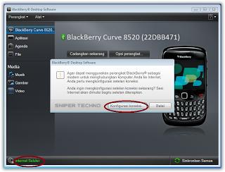 Cara Mudah Setting BlackBerry Jadi Modem