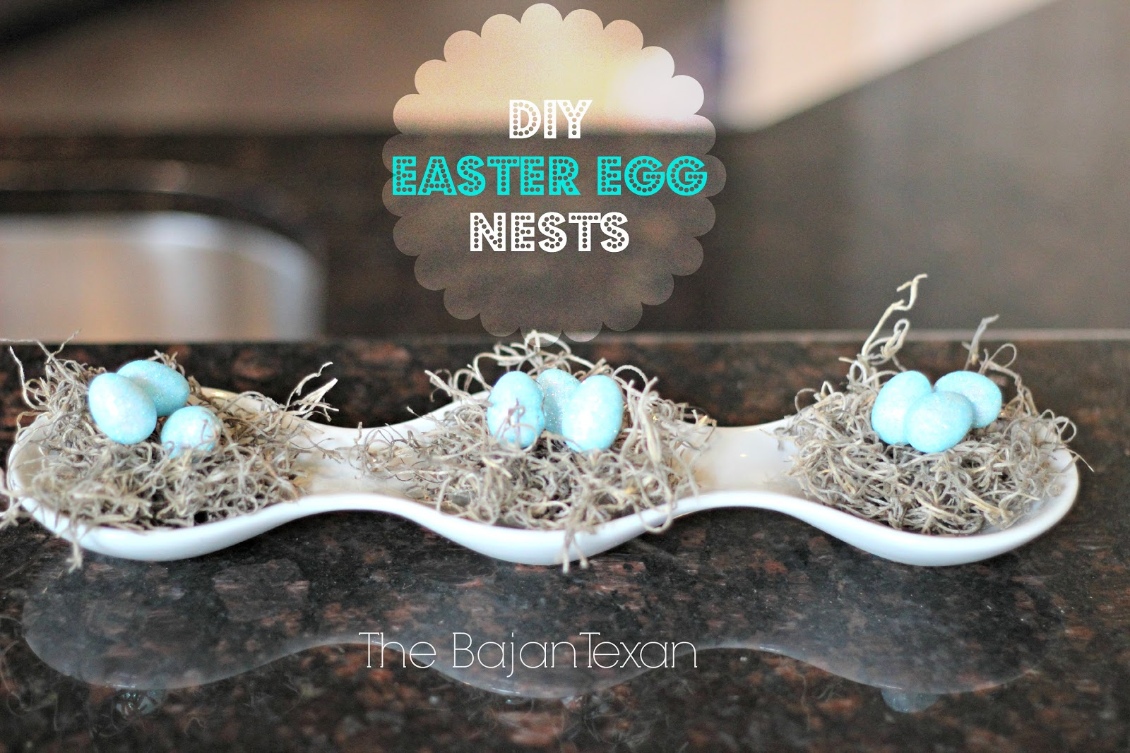 DIY easter egg nests