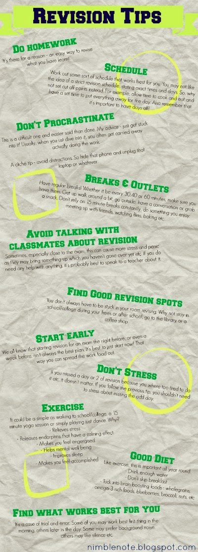 List of revision tips and tricks