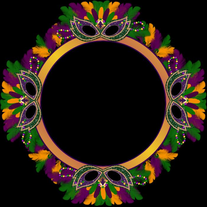Barbara\'s Creation Freebies: Mardi Gras cluster frame