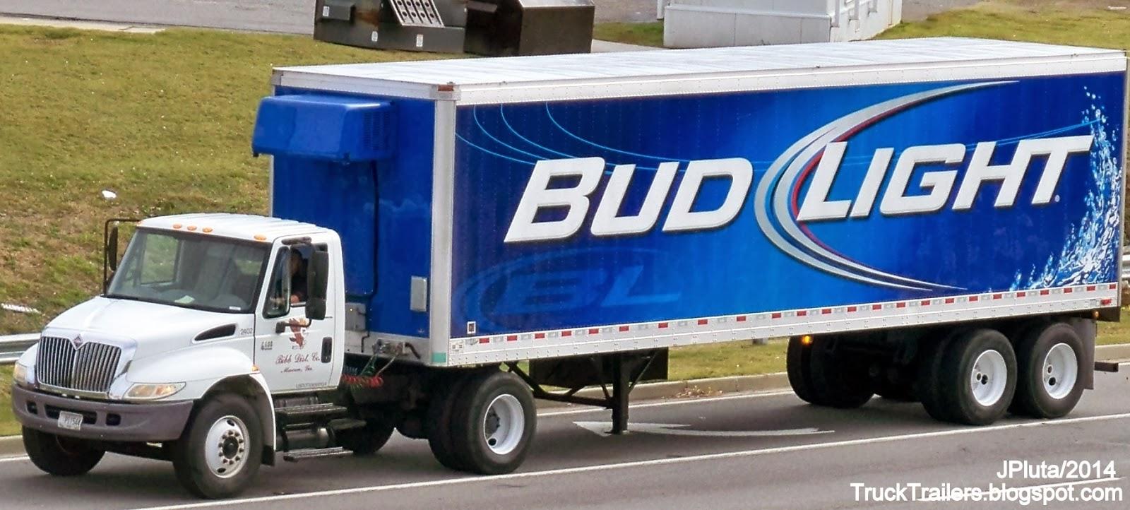 Awesome BIBB DISTRIBUTING Company Macon Georgia International 6400 Day Cab Truck  2503, BUD LIGHT Beer 9 Bay Side Door Trailer Bibb County Macon GA. Budweiser Good Ideas