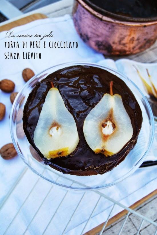 torta di pere e cioccolato senza lievito