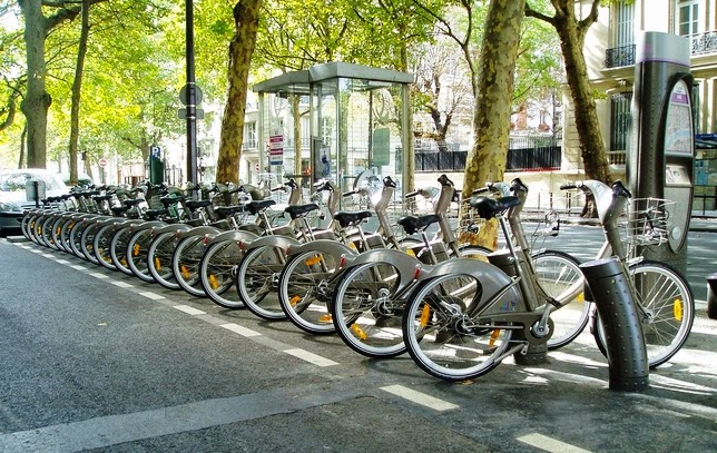 Bicicleta Paris Transporte