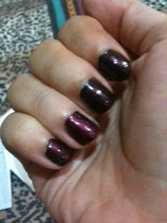 wing it wine over liquid leather nail polish