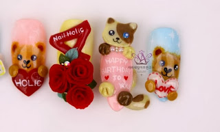 LOVELY Cute bear nail art