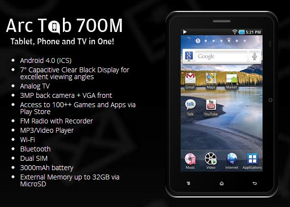 Price list 2014 arc mobile android phones and tablets for O tablet price list 2014