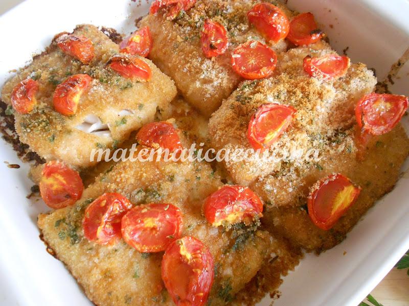 m@tematicaecucina: filetti di merluzzo impanati cotti al forno - Cucinare Filetto Di Merluzzo