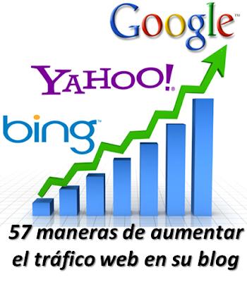 57 maneras de aumentar el tráfico web en su blog