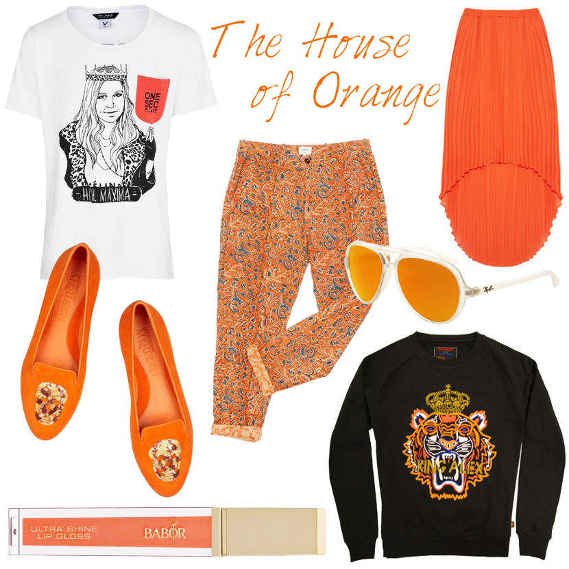 Mix & Match; The House of Orange by La Vie Fleurit!!! Koninginnedag, Queensday, Mix and Match, Fashion, Beauty, Brands, Collection, Style, look, Holiday, Must Have, Design, Designers, Orange, Oranje, Rood, Wit, Blauw, OneSecPlease, Blog, Blogger, Bellerose, Alexander McQueen, Ray Ban, Michael Kors, Kenzo, PRJCT AMS, Oranje Boven, Troonswisseling, Throne Abdication, Beatrix, Maxima