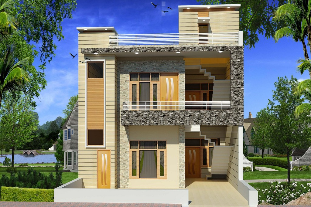 New home designs latest modern homes exterior beautiful for Modern house front view design