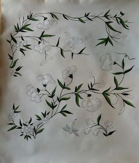 Håndmalet af Zilmers tapetdesign