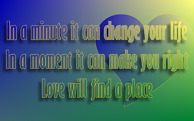 One Heart - Celine Dion Song Lyric Quote in Text Image