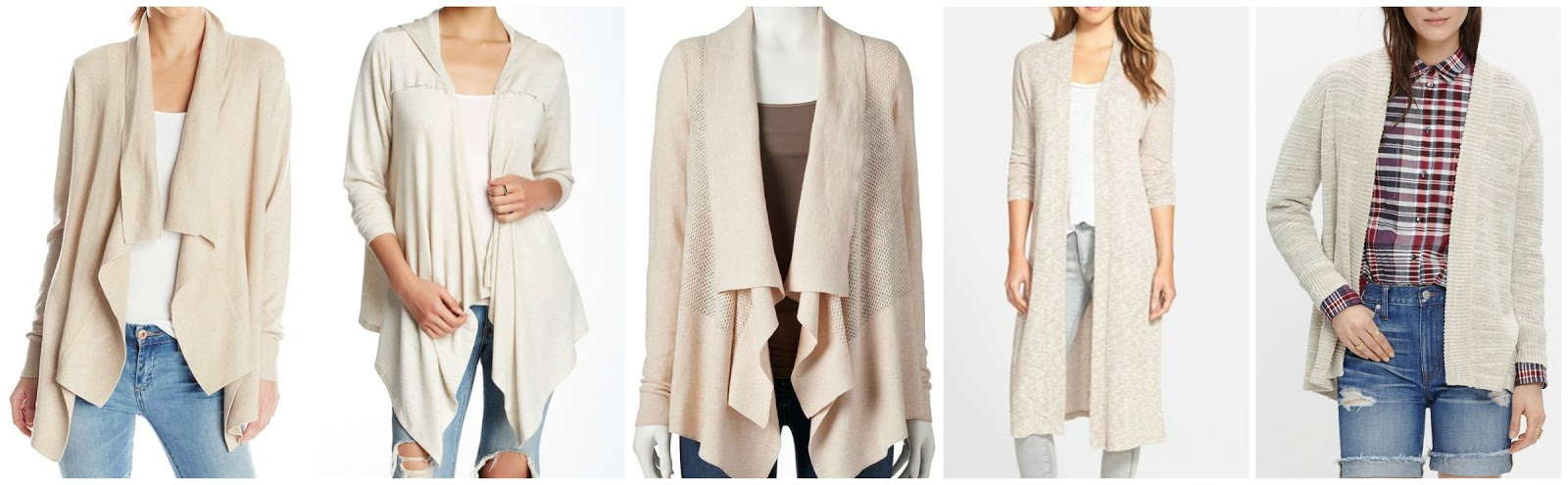 clothing normal front natural product cream in polo draped ralph lauren open drapes cardigan lyst