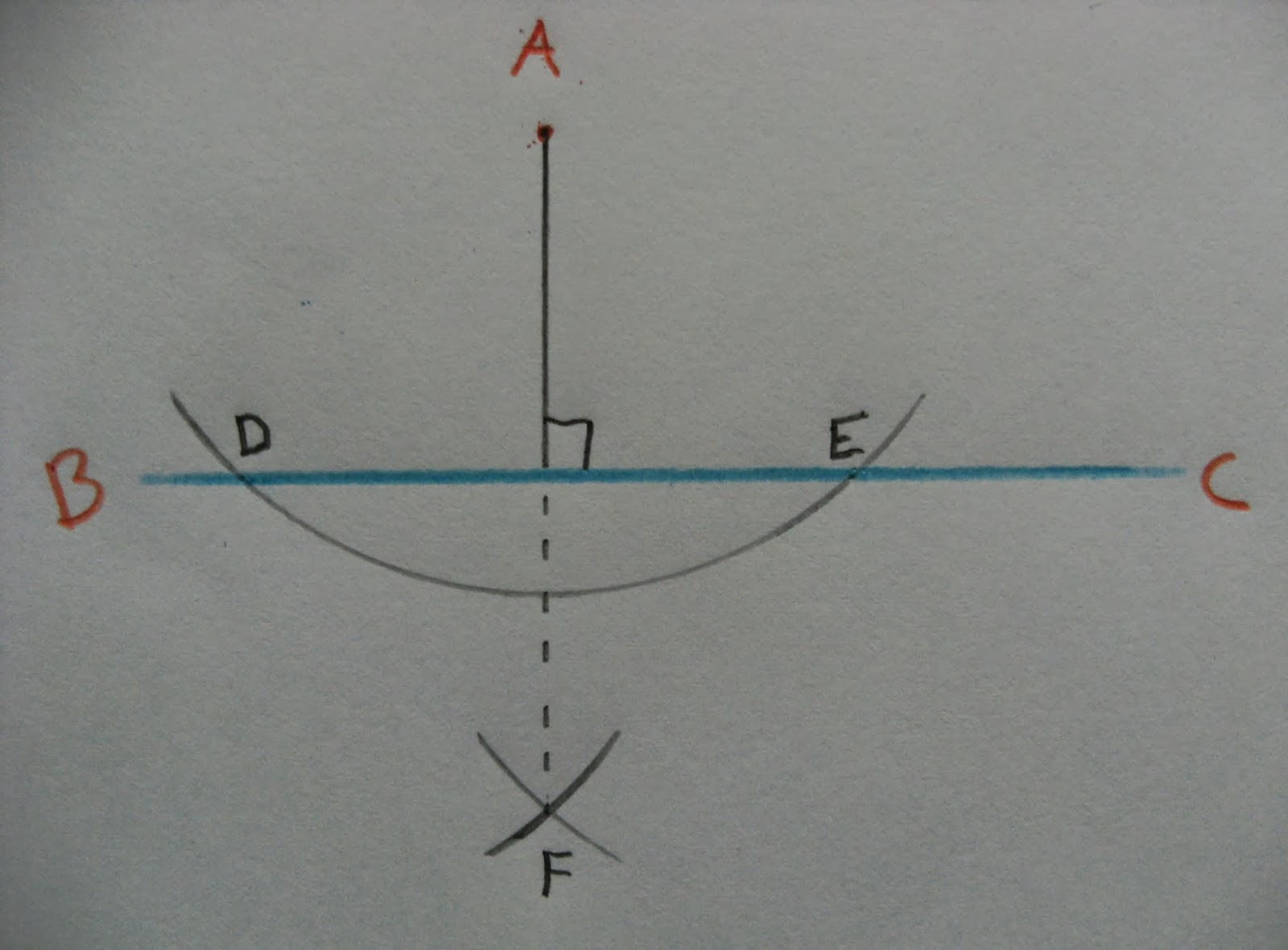 Civil D Draw Line Perpendicular : To construct a perpendicular given line from point