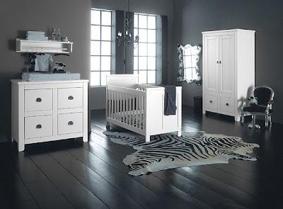 dormitorio para bebé gris