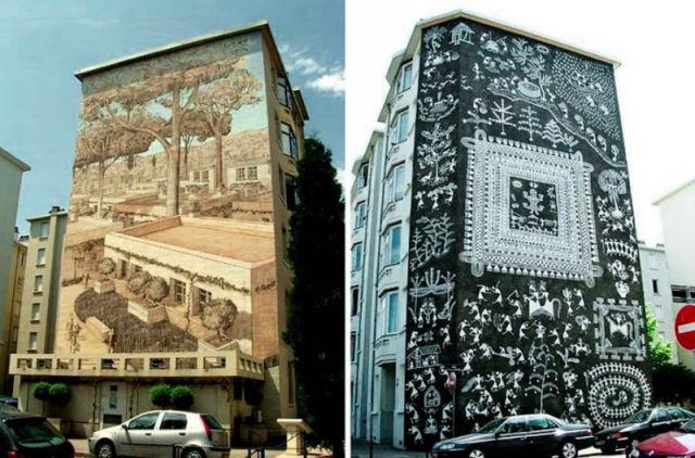 arte em fachada de casa