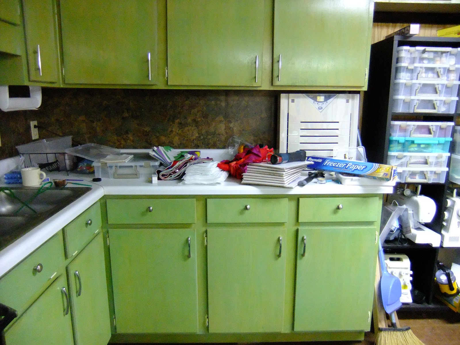 was this set of kitchen cabinets in my basement kitchen