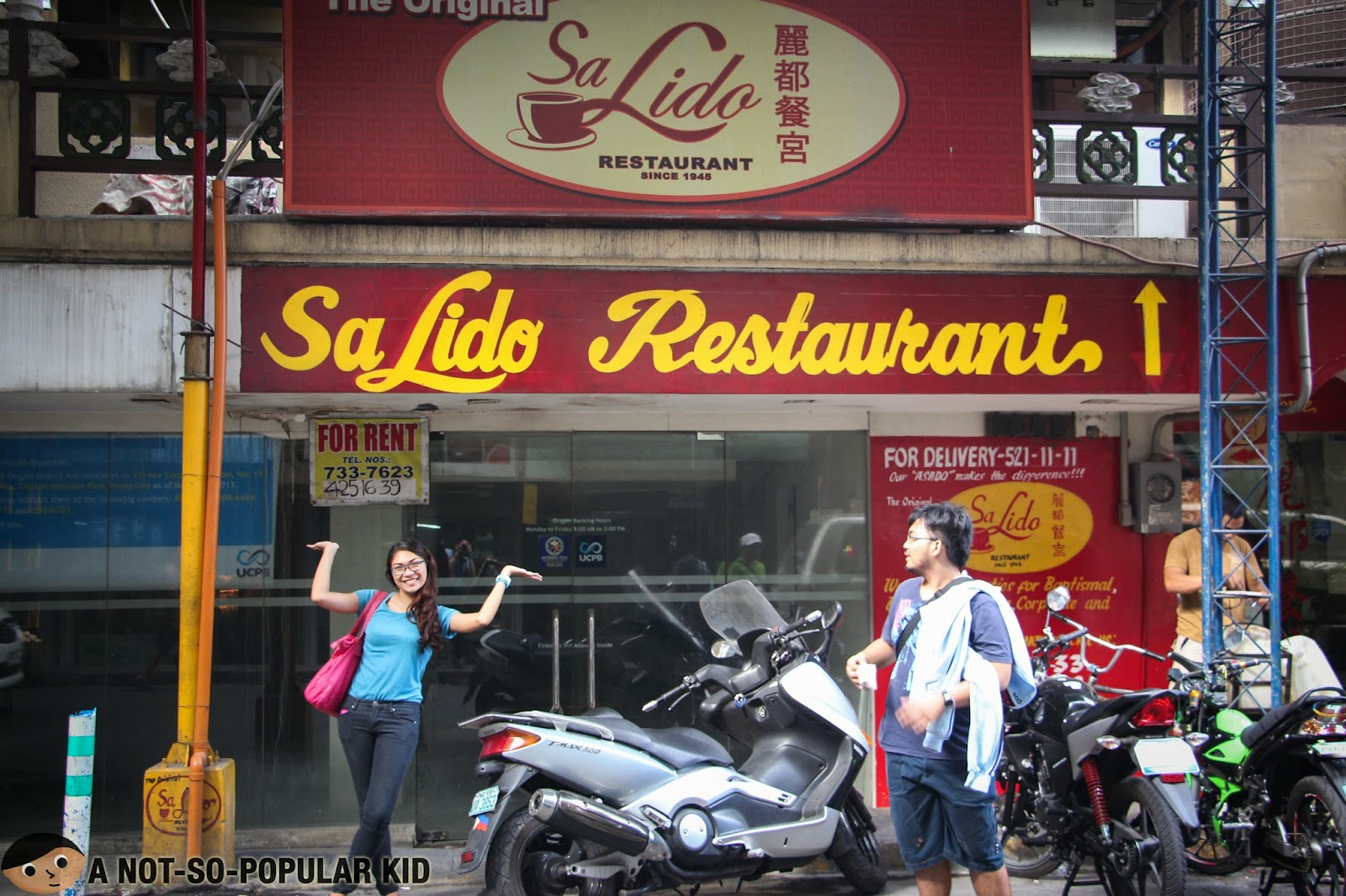 The Original Sa Lido Restaurant in Ongpin Street of Binondo, Manila