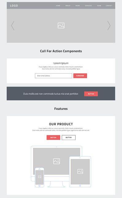 Les Ressources Web du Lundi by Iscomigoo Webdesign: One Page, wireframes site internet