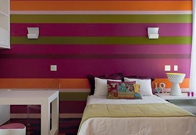 quarto pequeno, colorido, pintar parede, pitura da parede