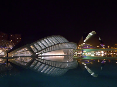 Ciudad de las Artes y las Ciencias, Valencia. City of arts and sciences in Valencia's riverbed park, Spain.