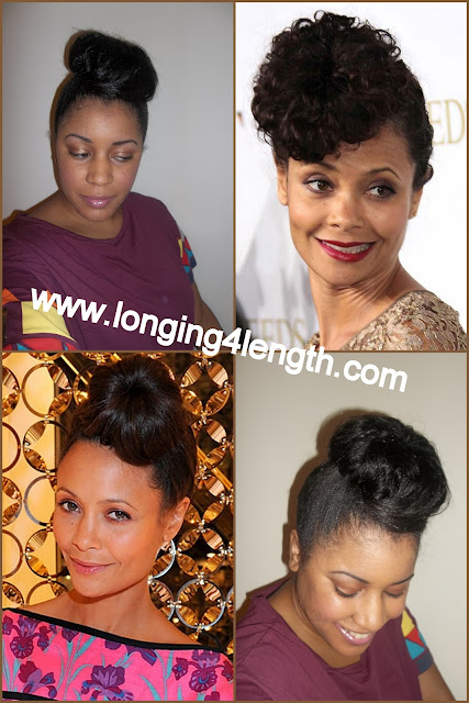 Thandie Newton Inspired Ninja Bun Tutorial