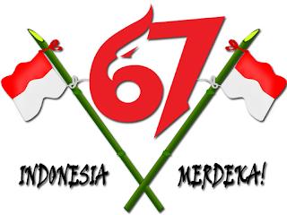 Logo 67 tahun Indonesia Merdeka tahun 2012