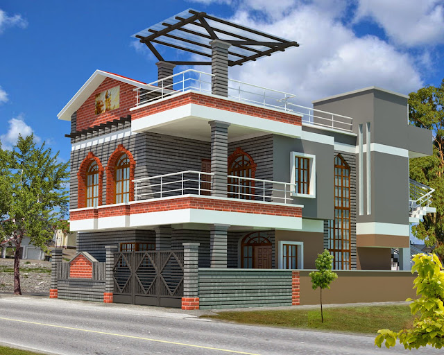Exterior House Designs on The Road