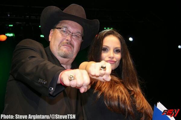 Photos of Trish Stratus Hanging Out with Jim Ross.
