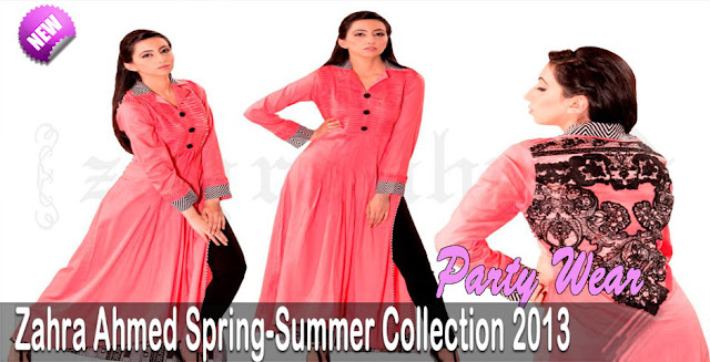 Party Wear | Zahra Ahmed Spring-Summer Collection 2013