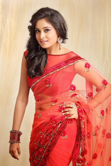 Arunthathi In Red Saree
