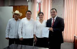 Entrega Américo Zúñiga iniciativa para garantizar llegada de recursos federales a municipios