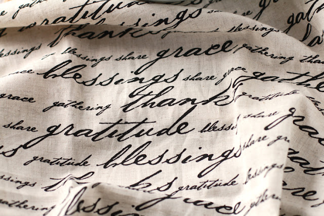 Thanksgiving napkin: grace, blessings, thanks, gratitude