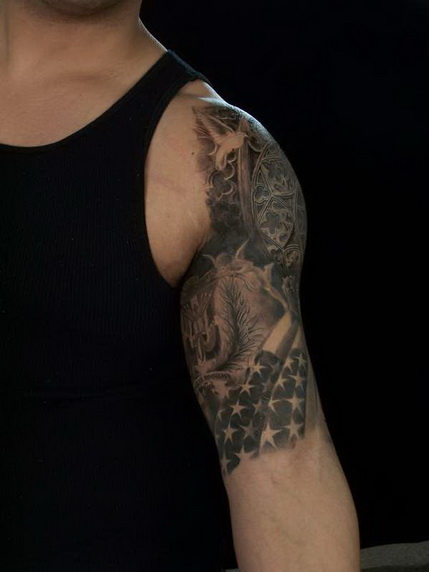 Half Sleeve Tattoo is a tattoo that covers the entire upper or lower arm