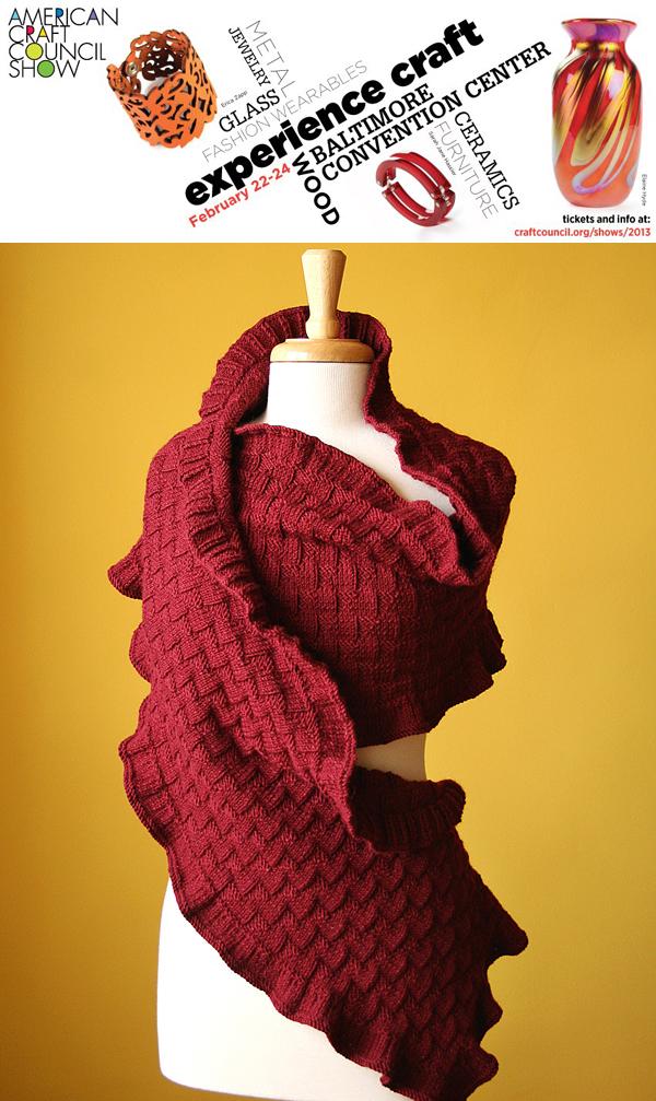 Elena rosenberg wearable fiber art a cordial invitation for American craft council show