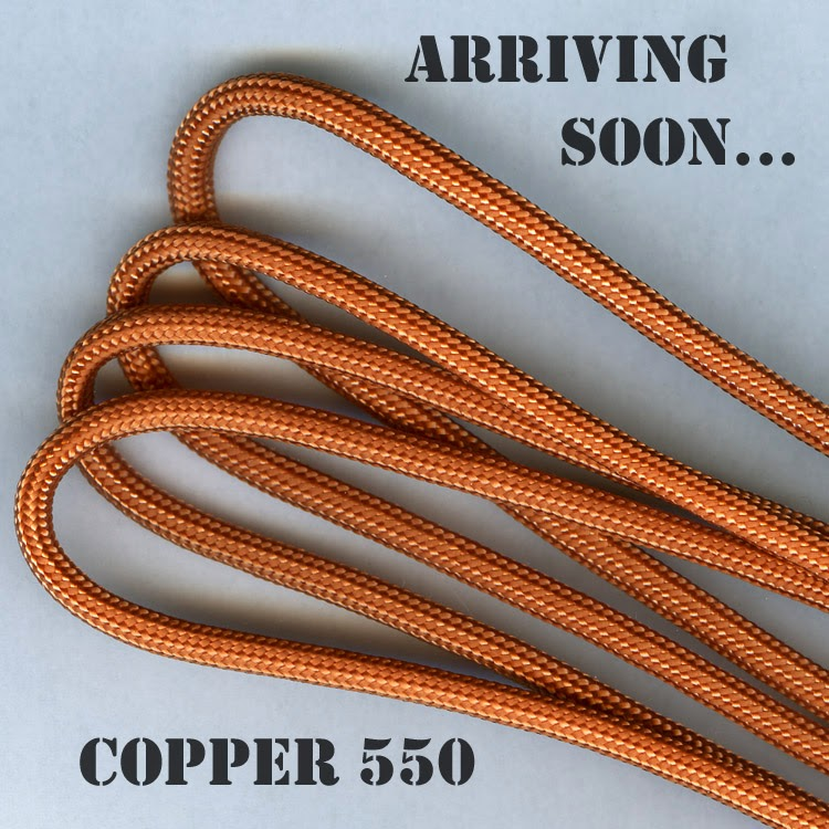 Copper Parachute Cord 550 - Pepperell Braiding Company