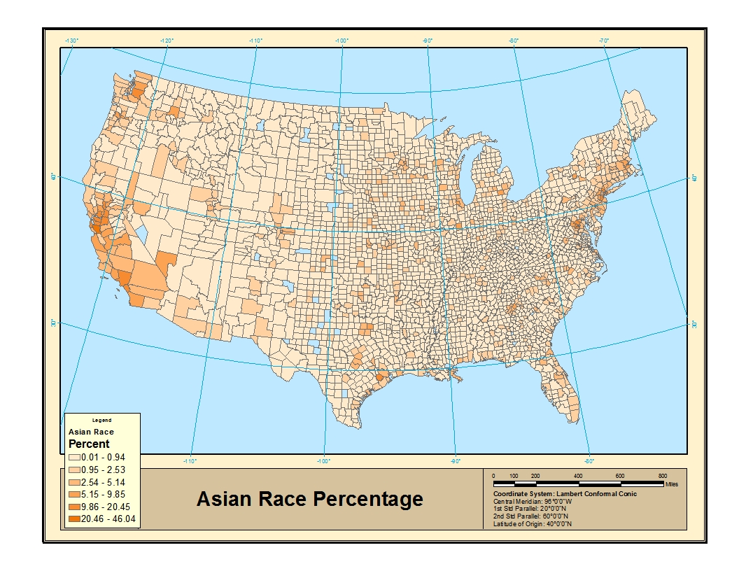 in contrast to the historical slaving reason of the african americans the key word of the distributions of asian american is immigration