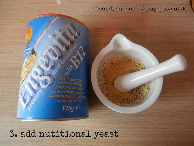 How to make DIY vegan cheese from nutritional yeast and pine nuts secondhandsusie.blogspot.co.uk