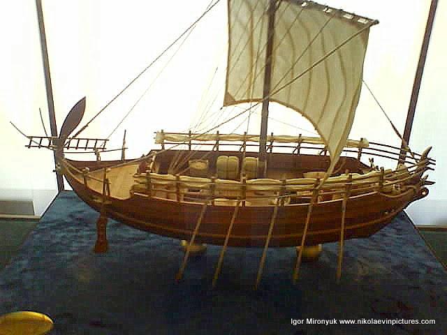 Первый греческий корабль.
