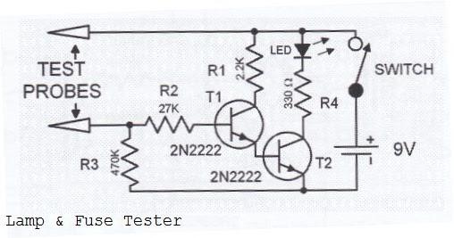 lamp fuse tester circuit diagram