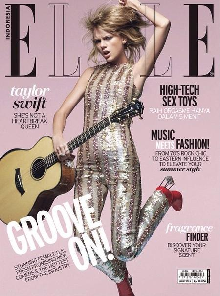Singer, Actress @ Taylor Swift for Elle Indonesia June 2015