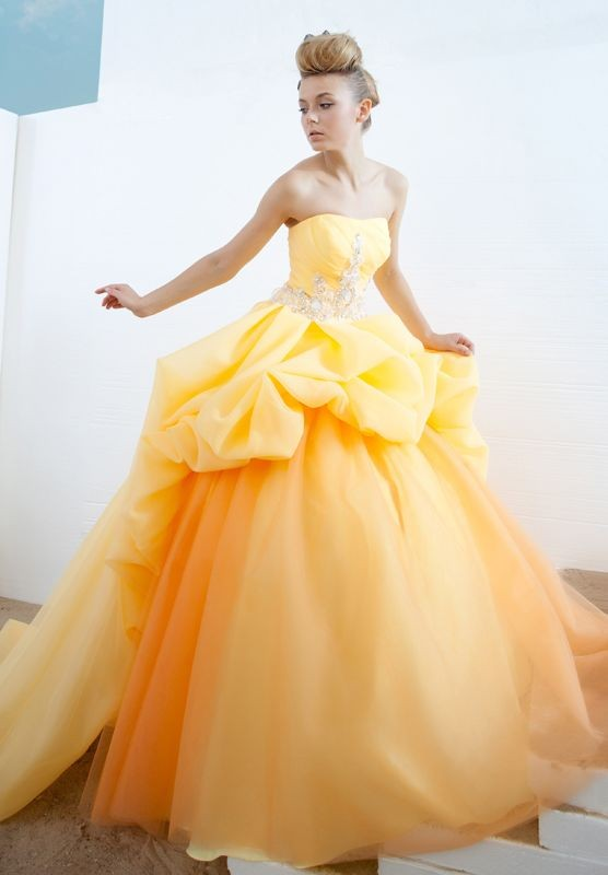 Bright Yellow Ball Gowns