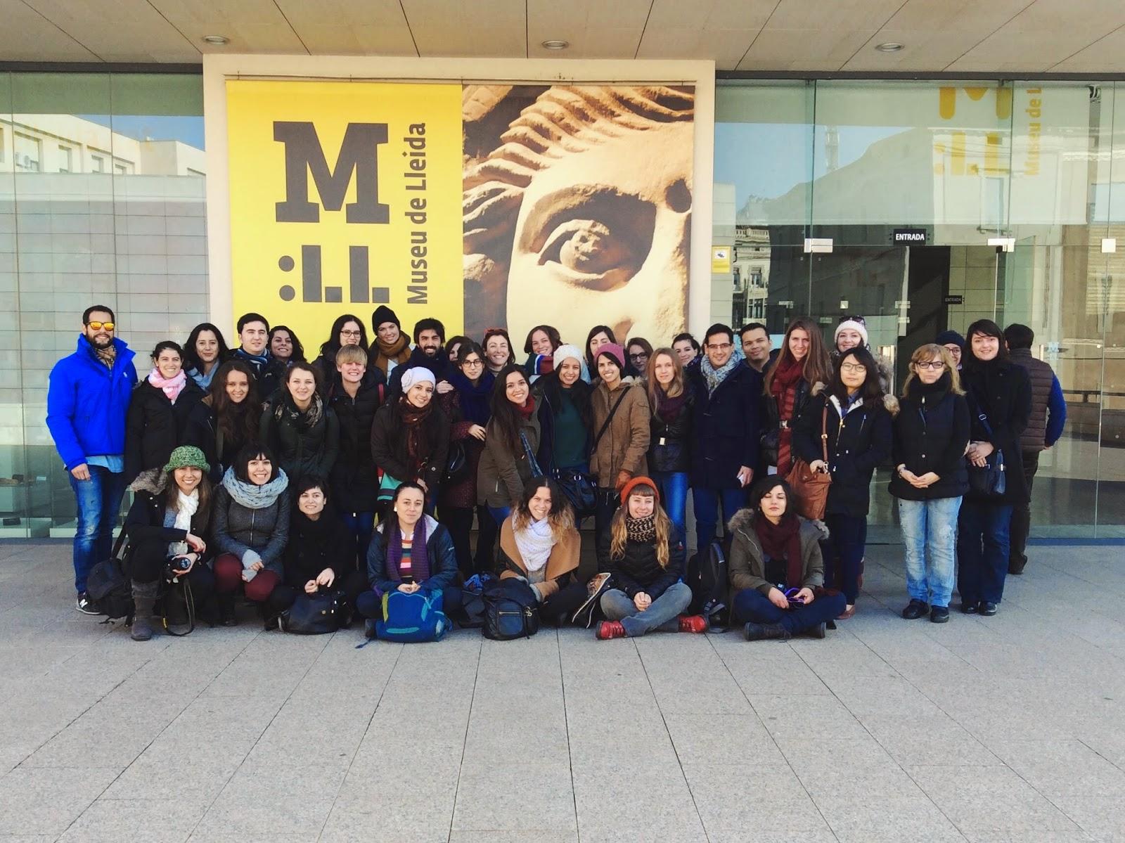 Nuestros alumnos del Máster Universitario en gestión Cultural en el Museu de Lleida Diocesà i Comarcal.
