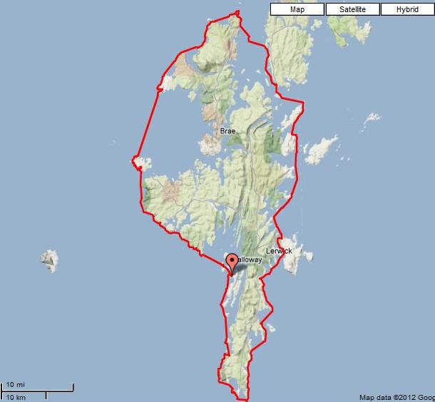 map of bressay shetland