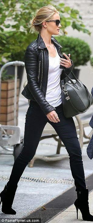 rosie huntington whiteley leather jacket