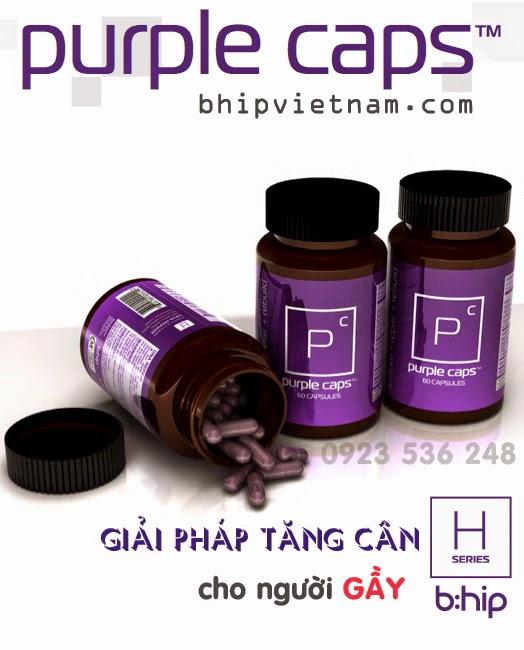 Purple Caps tăng cân - thực phẩm chức năng tăng cân Purple Caps bHip